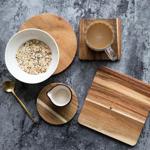 Wood Placemat Bowl Mat Pot Pad Eco-Friendly Pad under 10$ Wood Mat's & Pad's - CoventryMall
