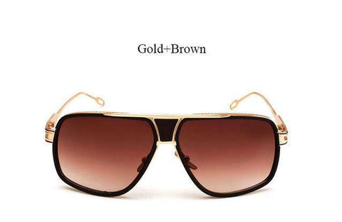 Flat Top SunGlasses Square 18K Gold - CoventryMall