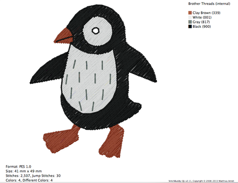 Penguins 1 - Animal - Embroidery Design | www.embroideryguru.com