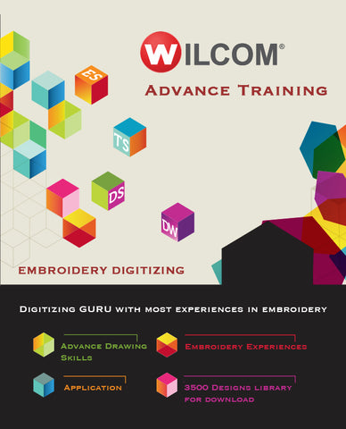 Advanced Digitizing Course - Advanced Training + Embroidery Software + 3500 Design Library