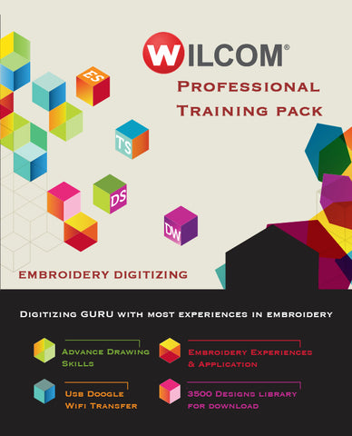 Professional Digitizing Course - Professional Training + Embroidery Software + 3500 Design Library + Wifi Dongle