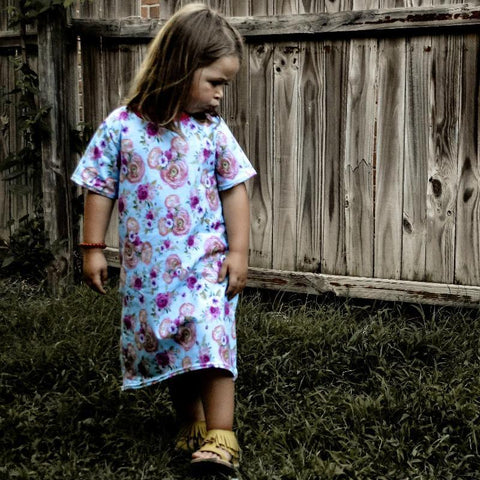 Floral Minnie Tee Shirt Dresses