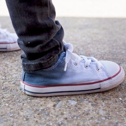 Tie Dye Faded Converse Shoes Navy and White