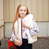 Fur Vest Eskimo Cream - ashandaspens