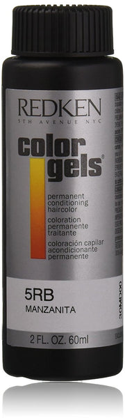 Redken Color Gels Permanent Conditioning 5RB Manzanita Hair Color for Unisex, 2 Ounce