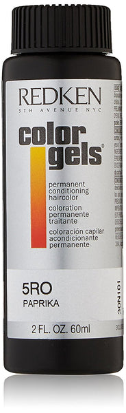 Redken Color Gels Permanent Conditioning 5RO Paprika Hair Color for Unisex, 2 Ounce