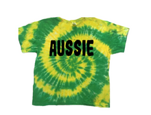 Green and Yellow Tie-dye Tee