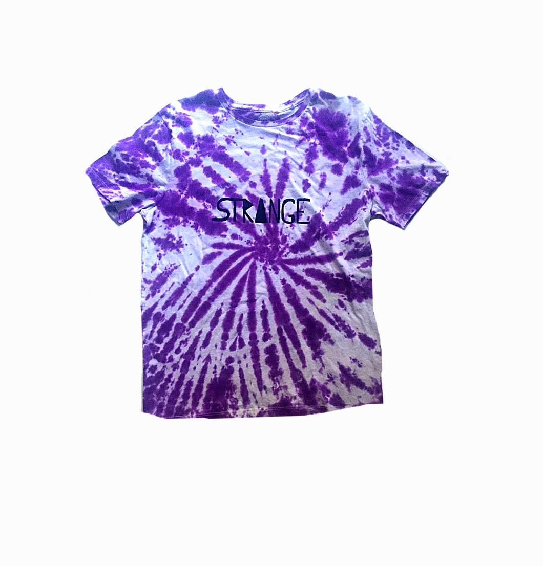 Kids Purple and White Tie-dye Tee