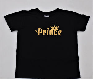 Prince Tee - Gold Text