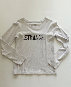 Girls Grey Long Sleeve Strange Tee