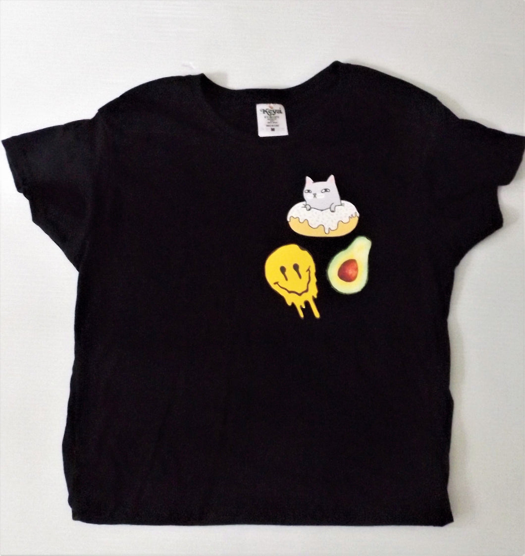Cat Donut, Melting Face and Avocado Collection Tee