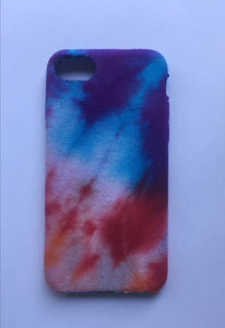 iPhone 7 Purple, Blue and Red Tie-dye Phone Case