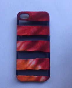 iPhone 5/5s Red and Orange Striped Tie-dye phone Case