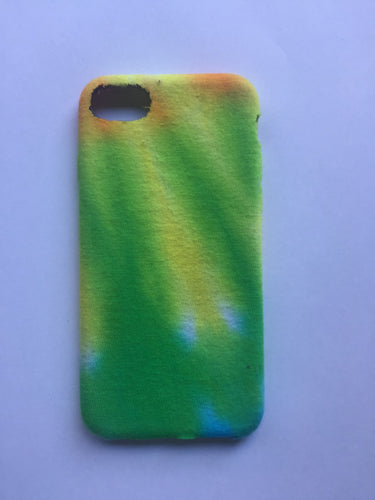 iPhone 7 Green, Yellow and Orange Tie-dye Phone Case