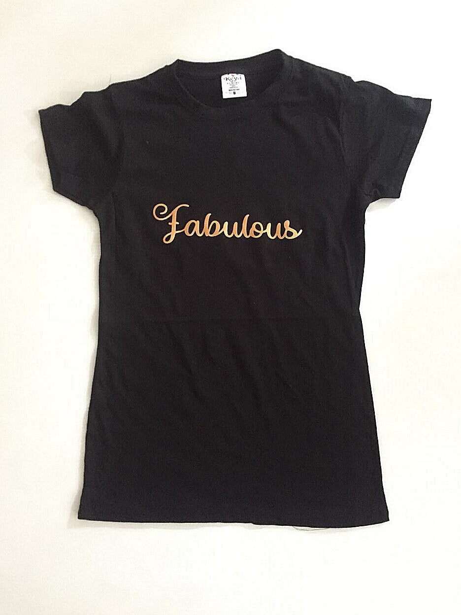 Fabulous - with shiny Rose Gold text.