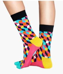 Multicolour Geometric Socks