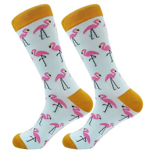 Blue and Pink Flamingo Socks