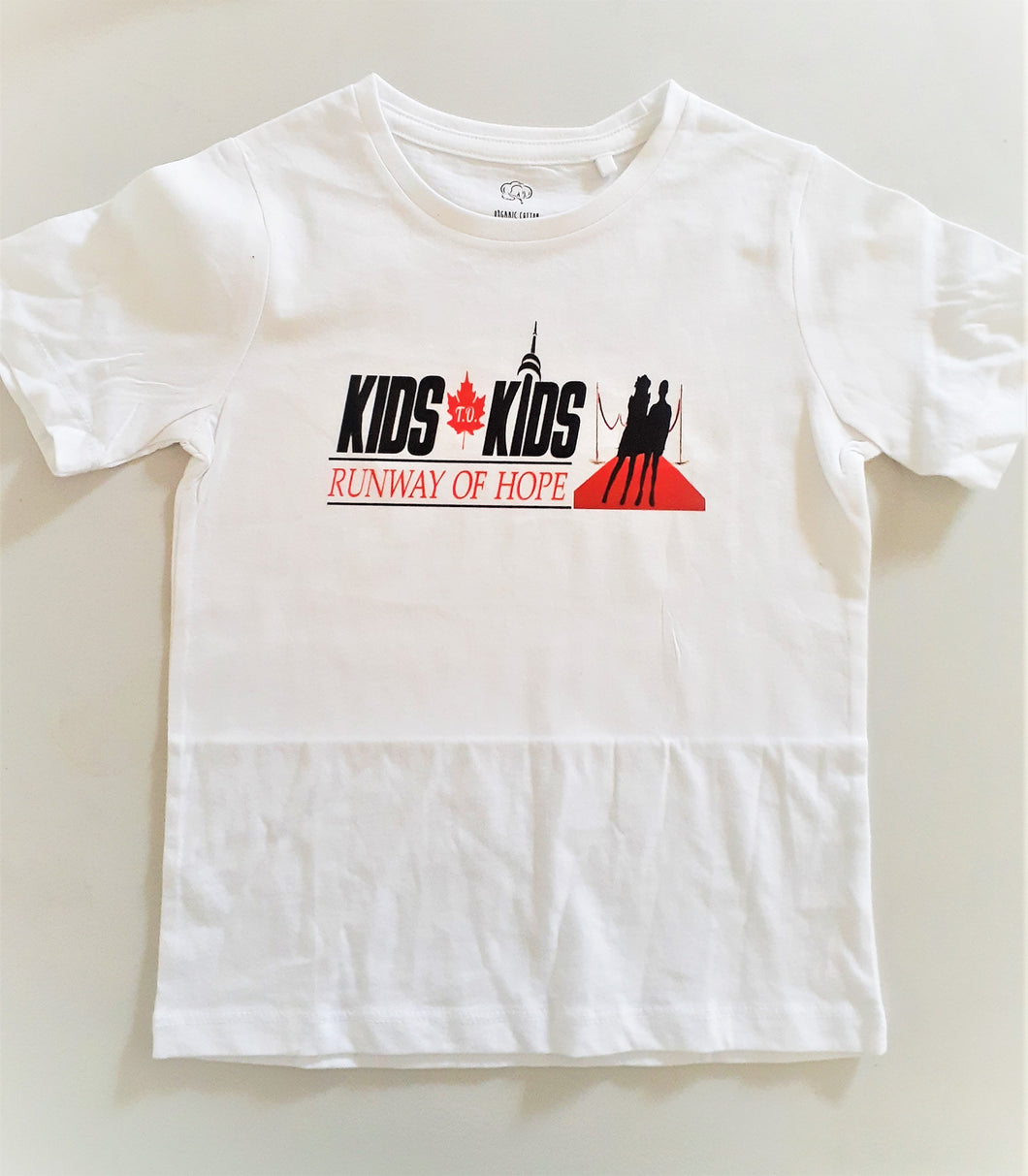 Kids T.O Kids Runway of Hope - Official 2019 Logo Tee