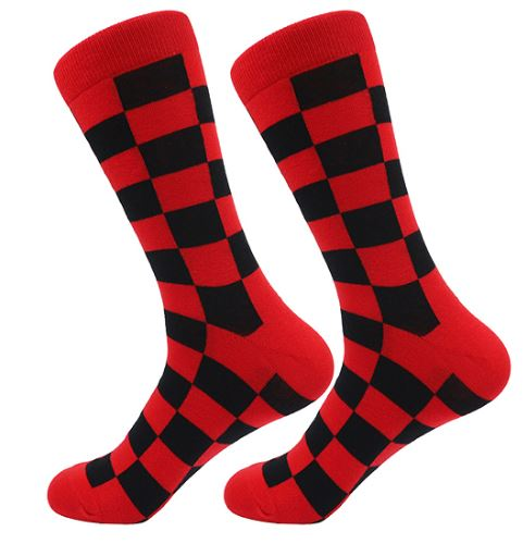 Red and Black Checker Socks