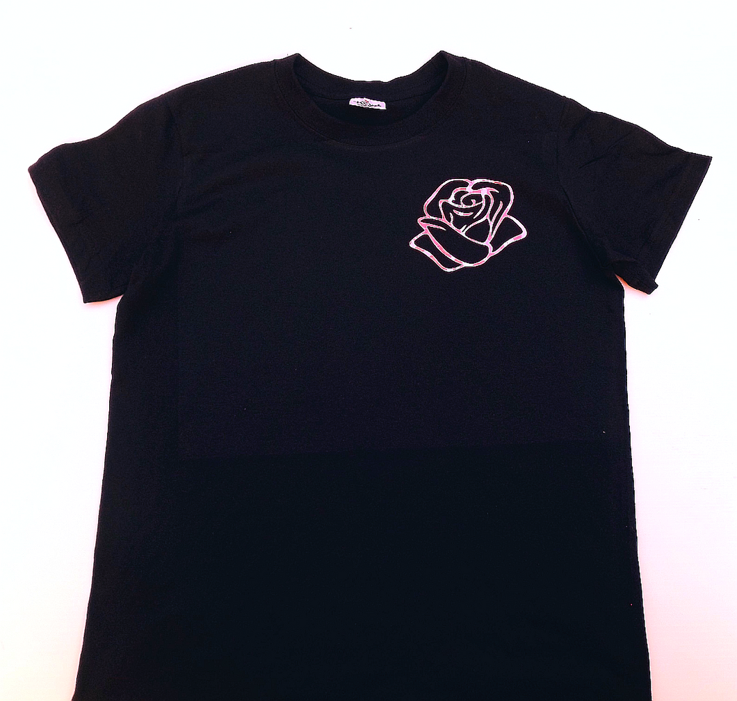 Rose Tee - Reflective Pink
