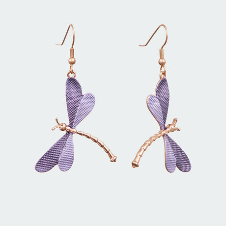 Lilac Forest Dragonfly Earrings