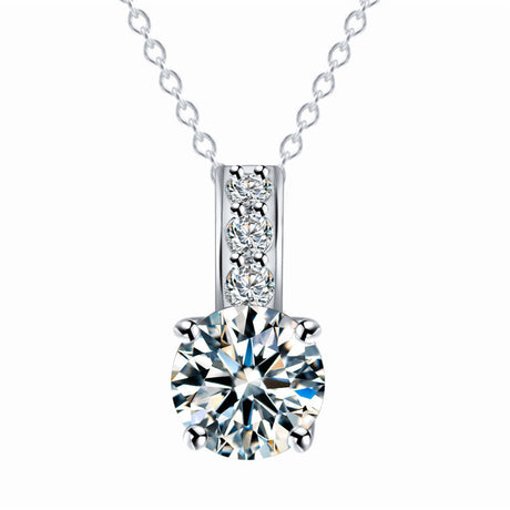 Crystal Slide Pendant Necklace