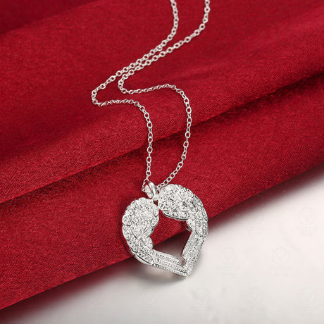 Heart Shape Angel Wings Necklace
