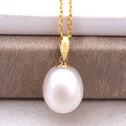 18K Natural Freshwater Pearl Pendant Necklace