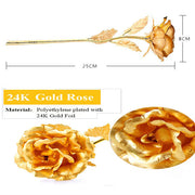 CUSTOM Engravable Gold Plated Rose