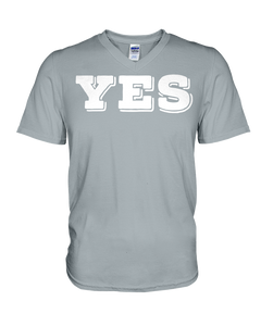 YES Canvas V-Neck T-Shirt
