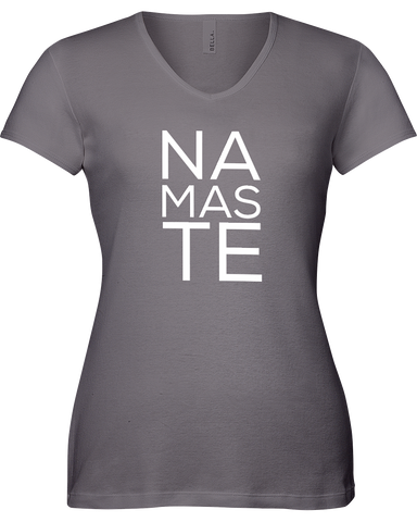 NAMASTE Large Print Ladies V-Neck