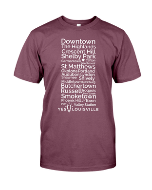 Louisville Neighborhoods T-Shirt (Product With A Purpose) (Unisex) [Very Important T]