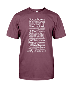 Louisville Neighborhoods T-Shirt --->PWaP<---