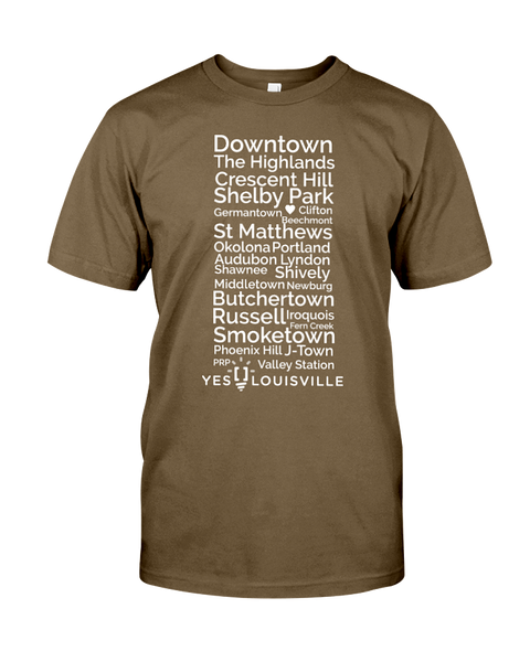 Louisville Neighborhoods T-Shirt
