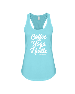 Coffee Yoga Hustle Ladies Terry Tank Top