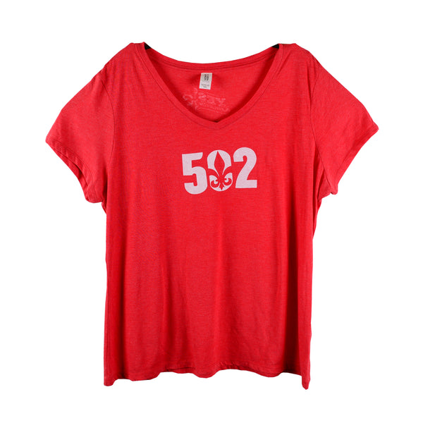 Cardinal Red 502 Women's V-Neck