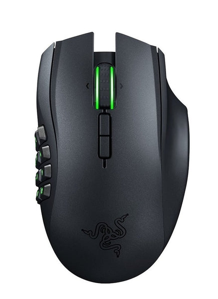 MOUSE RAZER WIRED USB NAGA ALL BLACK