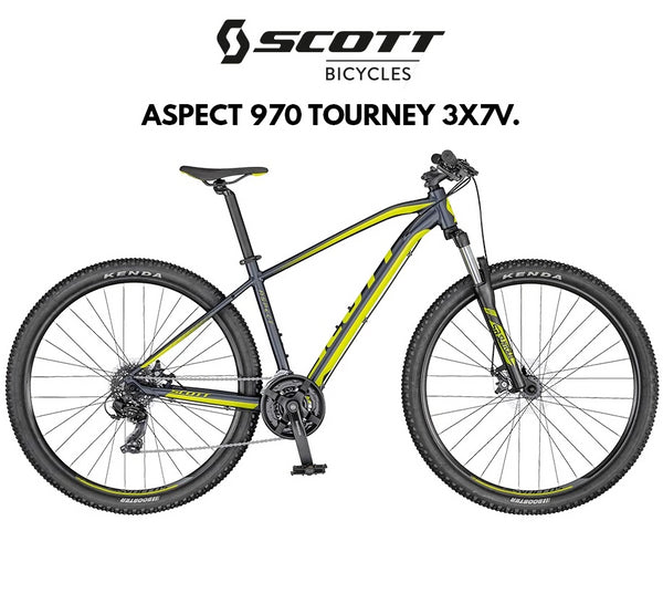 BICI SCOTT ASPECT 970 GRIS/AMARILLO M