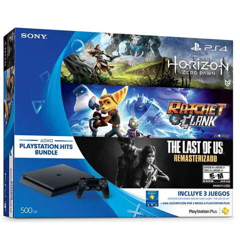 PLAYSTATION SONY 500GB BUNDLE 4 HITS