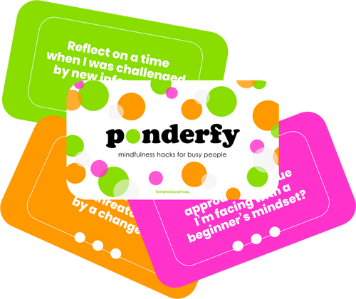 Ponderfy Cards - Mindfulness hacks for busy people