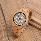 Sustainable Bamboo Watch with Unique Design