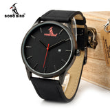 Classic Style Wrist Watch with Calendar Display and Genuine Leather Wristband