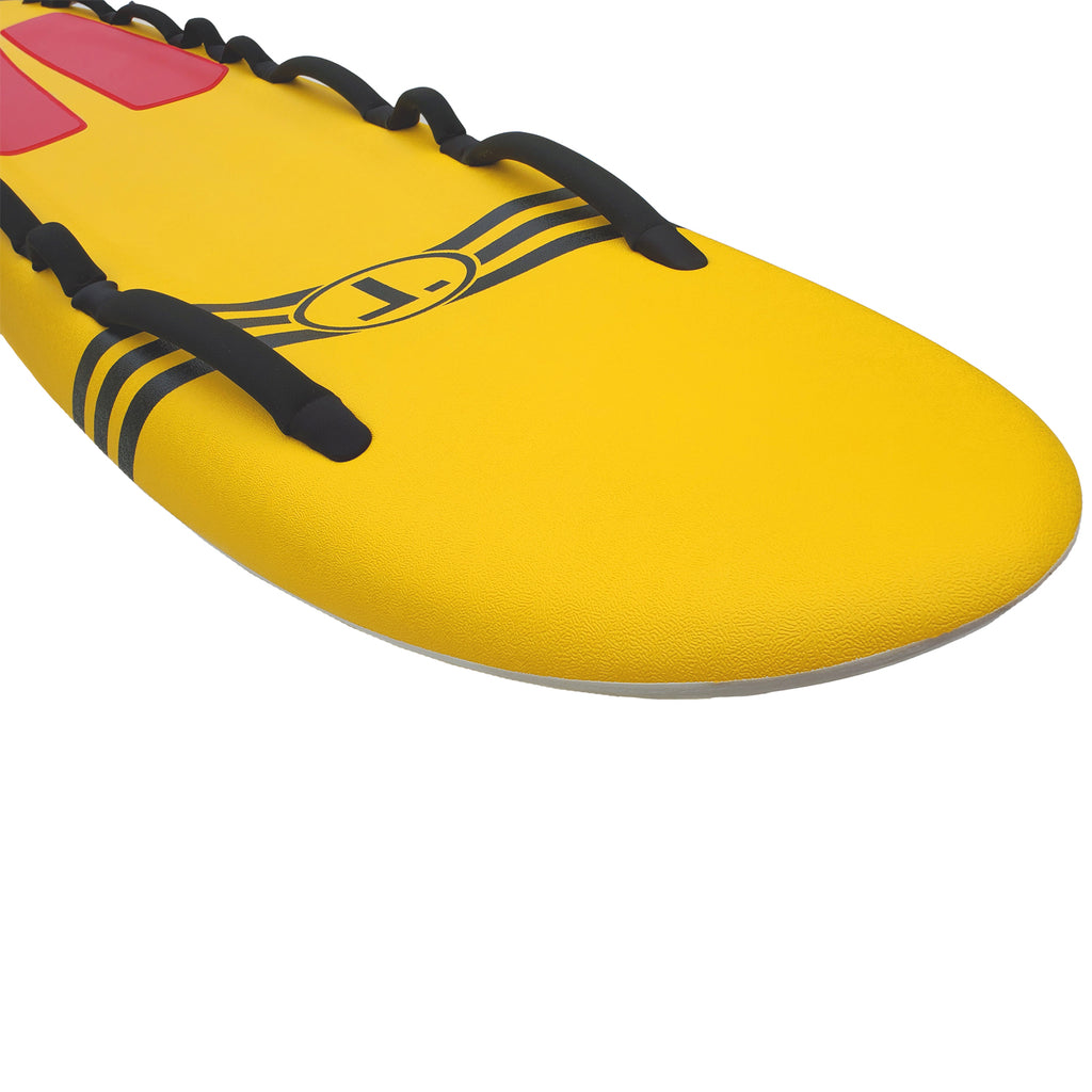 "Tribe 10'4"" Soft Top Lifeguard Rescue Board - Yellow"