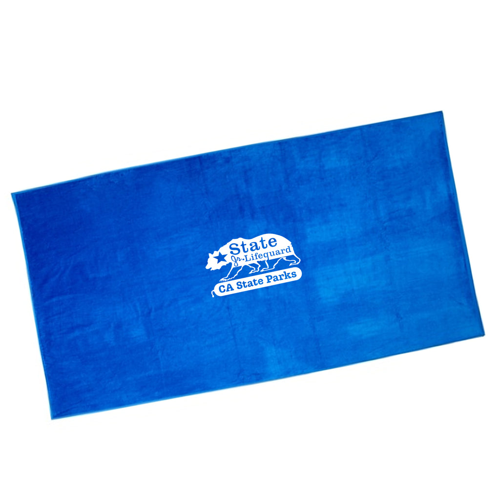 State Junior Guards Terry Cotton Beach Towel - Blue