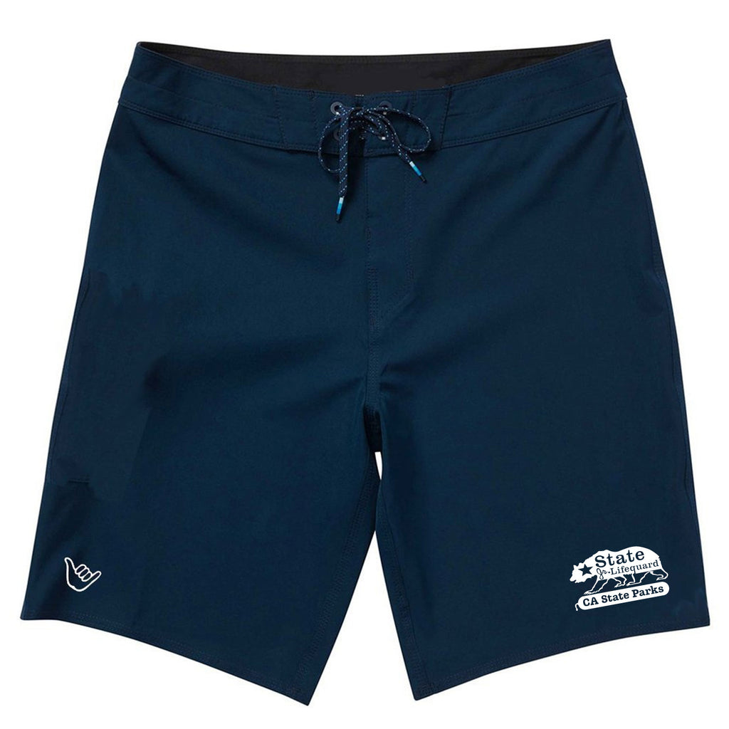 State Jr. Guards Boys Boardshort Swim Trunks - Red and Navy