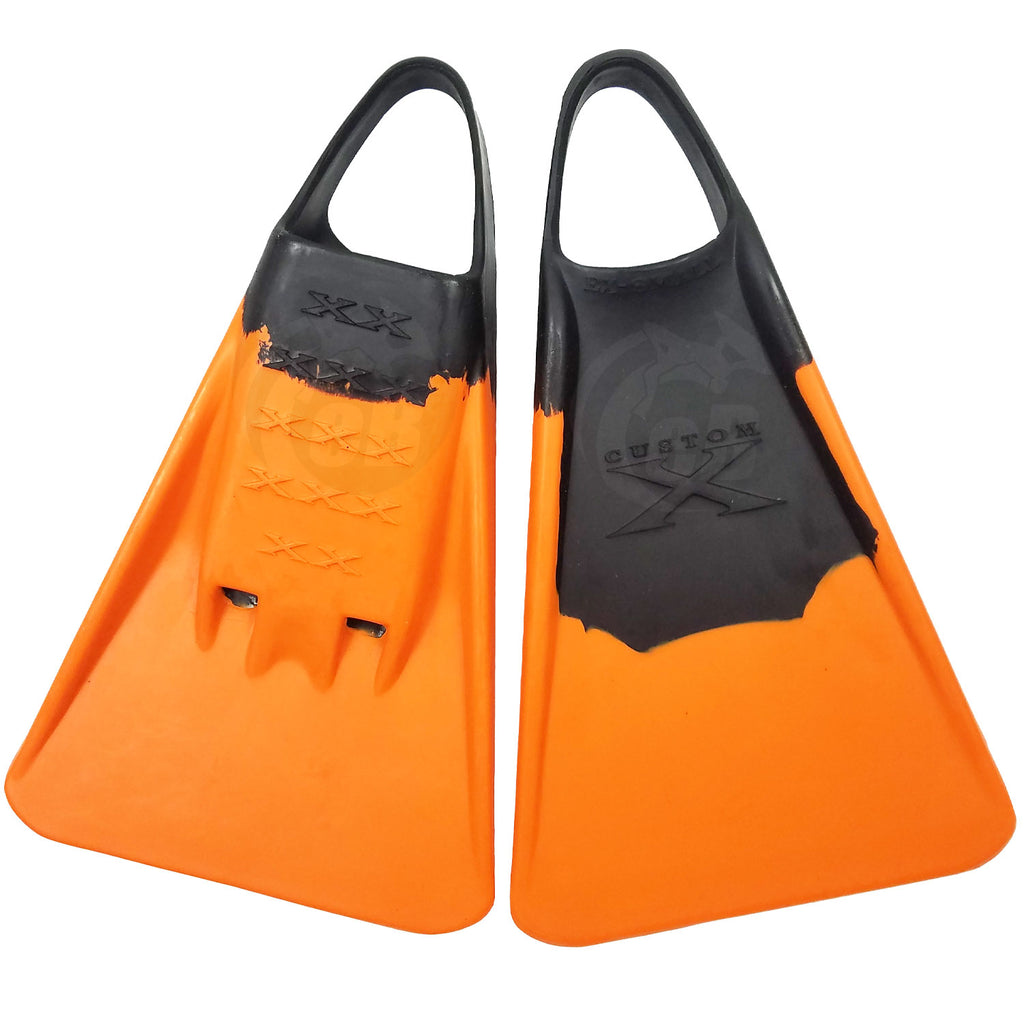 Custom X Swimfin - Black/Orange - XL