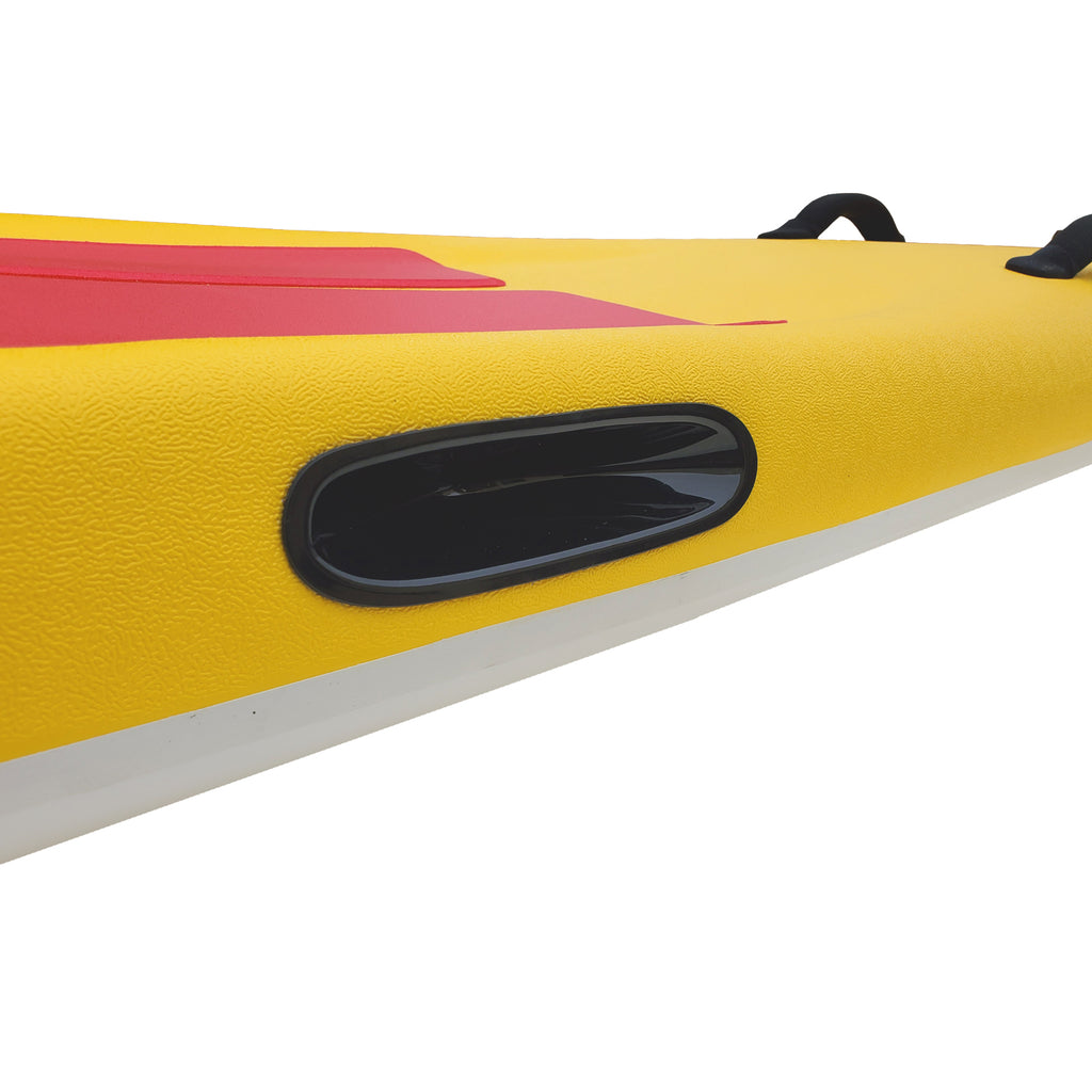 "Tribe 10'6"" Soft Top Lifeguard Race Board - Red"