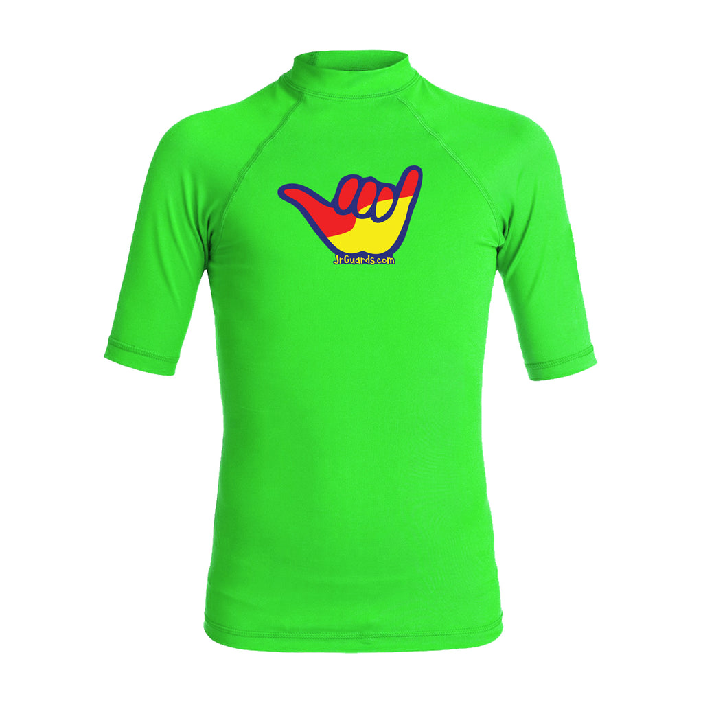 Junior Guards Shaka Short Sleeve Rashguard