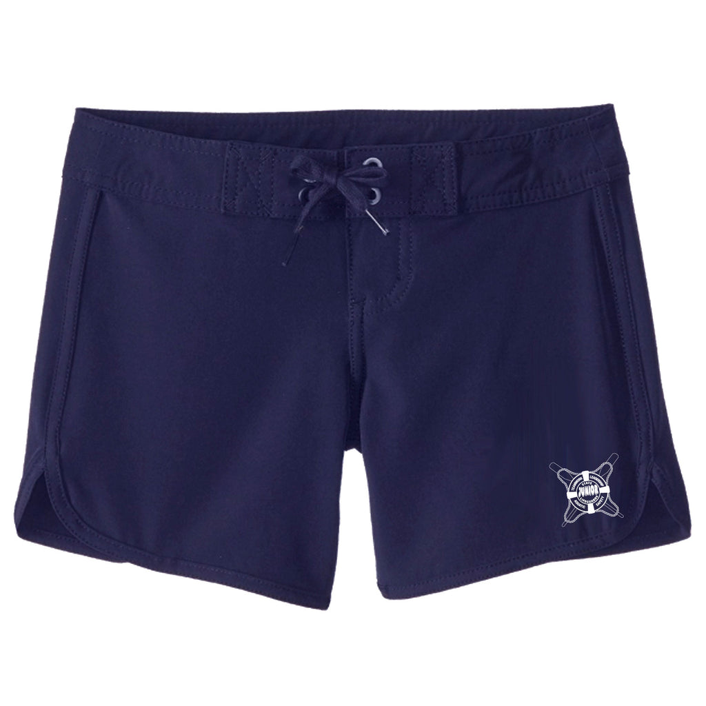 State Jr. Guards Girls Oars Boardshort Swim Trunks - Red and Navy