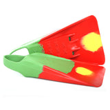 Custom X Swimfin - Green/Red - XL